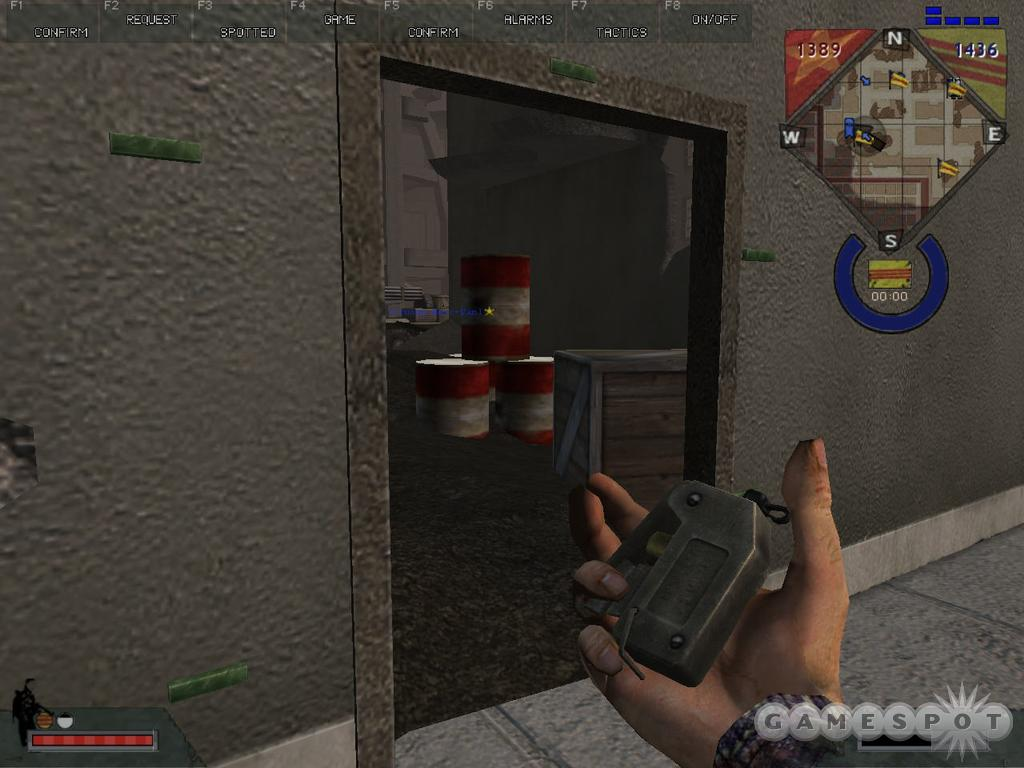 By arranging C4 around a doorway, you can ensure that visitors will only get the chance to knock once.