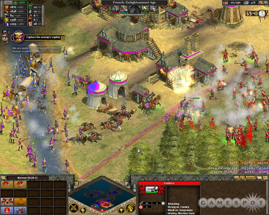 See screenshots of Rise of Nations: Thrones & Patriots