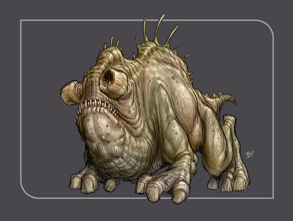 The creature designs in the game are classic Star Wars.