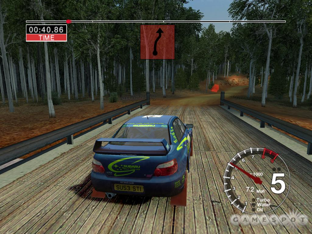 Colin McRae 04's gameplay is very realistic, yet it's still completely accessible to anyone who isn't a devout rally racing fan.
