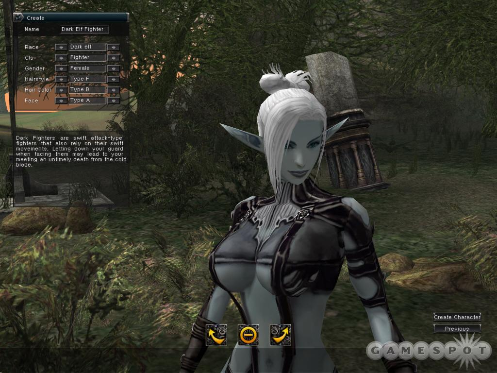 Lineage II at least has a distinctive art style. You'll note how some of its characters wear more clothing than others.