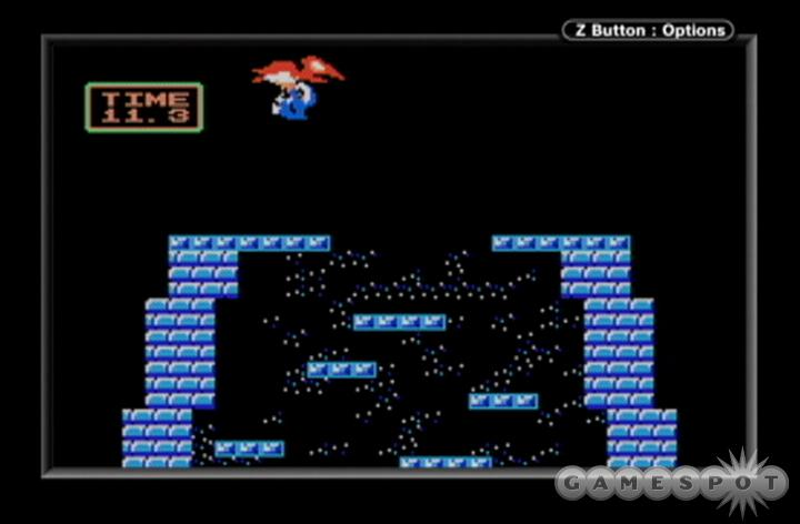 This is a pretty accurate port of the original NES version of Ice Climber.