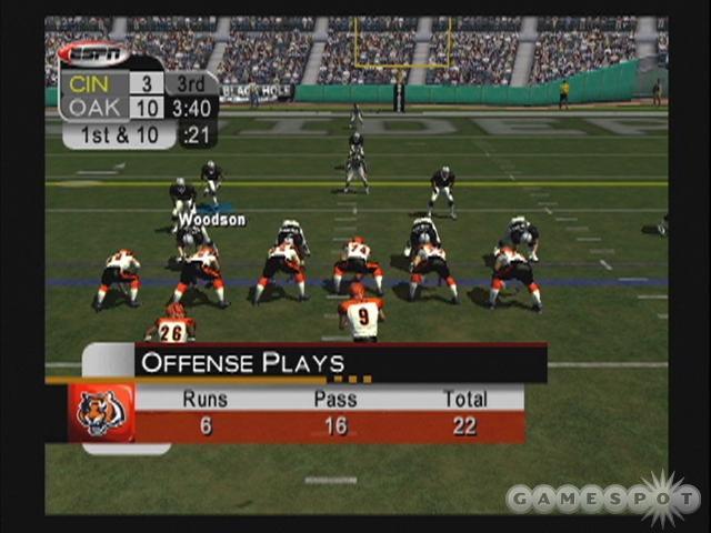ESPN NFL 2005's presentation is sharp, just like its predecessors.