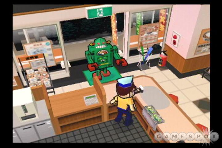 Yes, there's even a robot in the game.