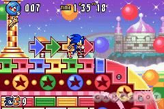 See screenshots of Sonic Advance 3