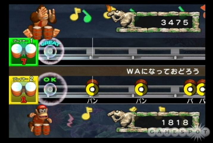 You'll find everything from TV themes to folk songs in Donkey Konga 2's eclectic lineup.