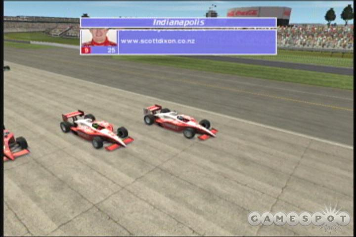 IndyCar Series 2005 has a good sensation of speed, but it looks pretty dated.
