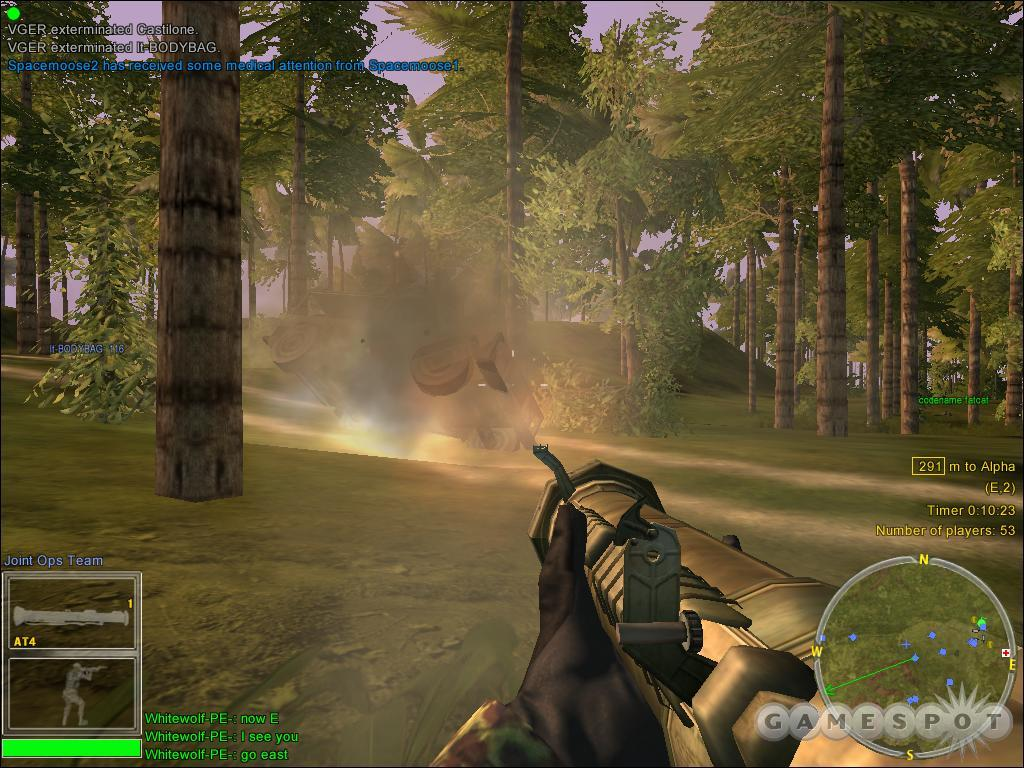 The rifleman's rocket launcher is a potent anti-vehicle and anti-personnel tool.