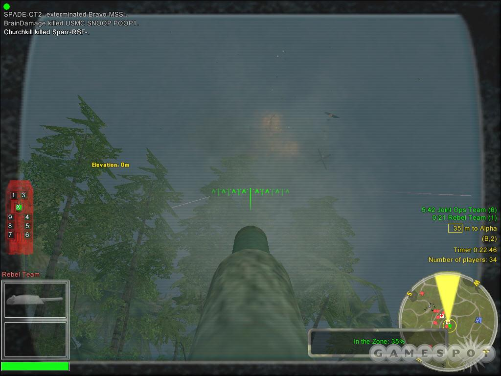 The cannon on an APC is able to take down pretty much anything you see, even helicopters.
