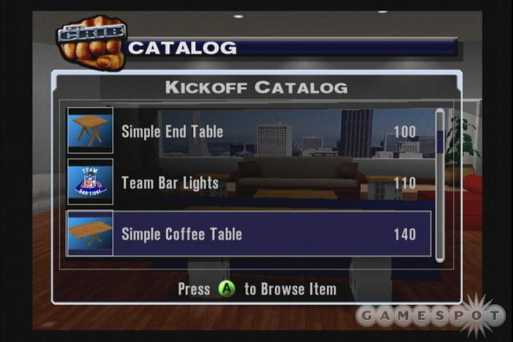 The online mode on both the PS2 and Xbox features league play, complete with live roster storage for trades, injury tracking, and free agent signings.