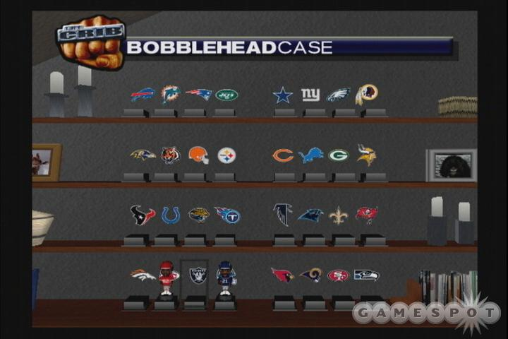 The crib mode lets you assemble a large collection of random items, including bobbleheads.