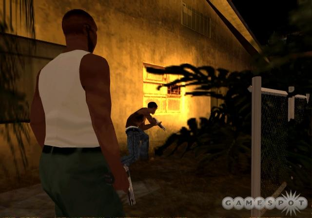 This early screenshot of GTA: San Andreas implied that home invasion would be a part of the game. Now we know the whole truth.