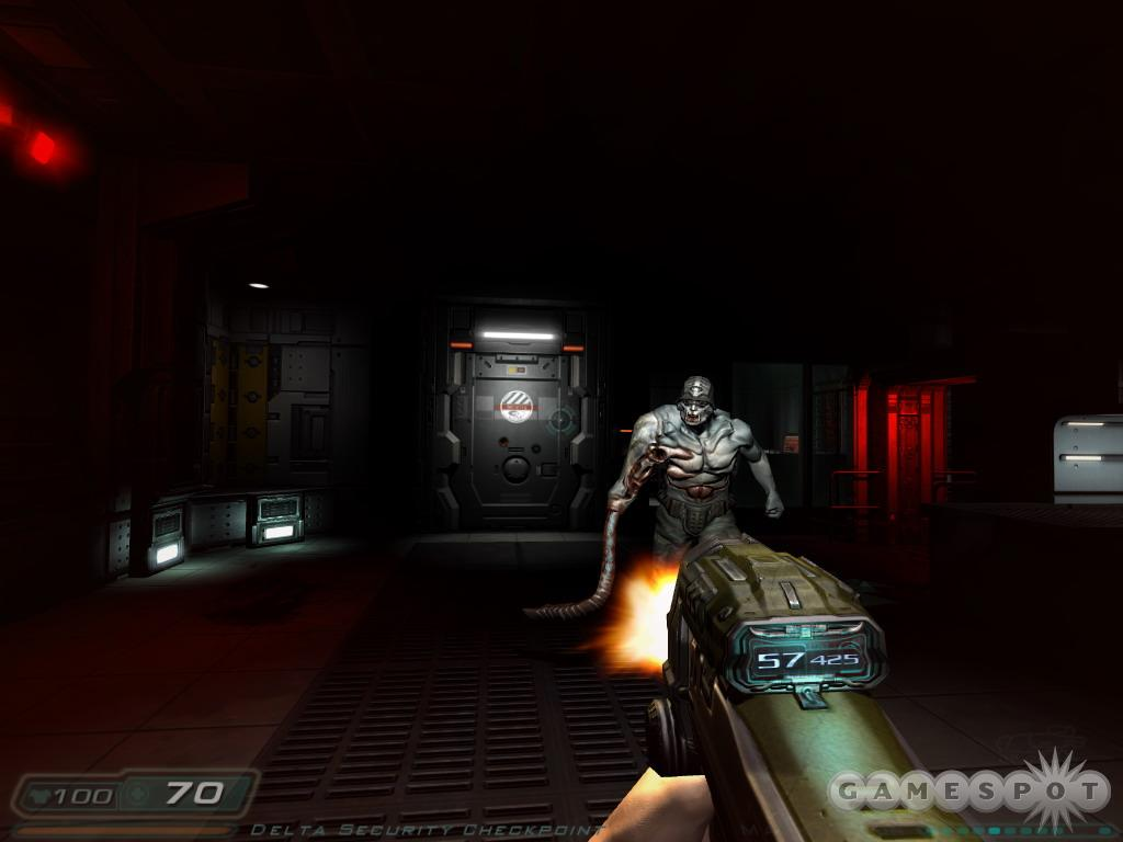 Don't expect the actual gameplay to be as cutting edge as the visuals; Doom 3 plays like shooters from the good, old days.
