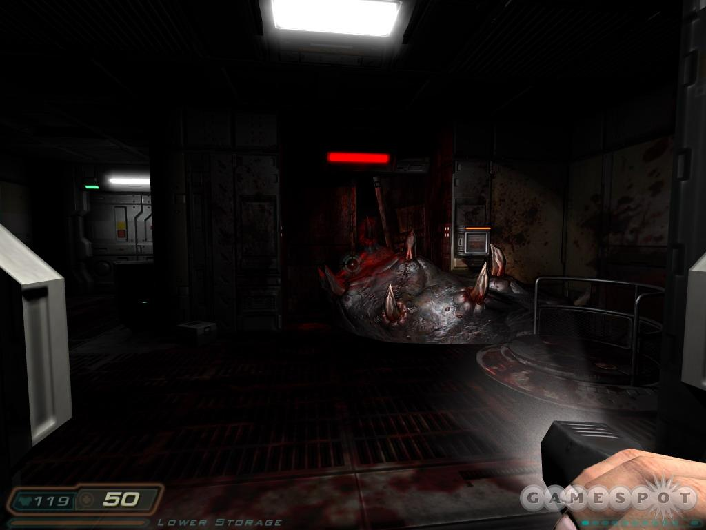 Stifling darkness lends Doom 3 much of its atmosphere as well as much of its challenge.