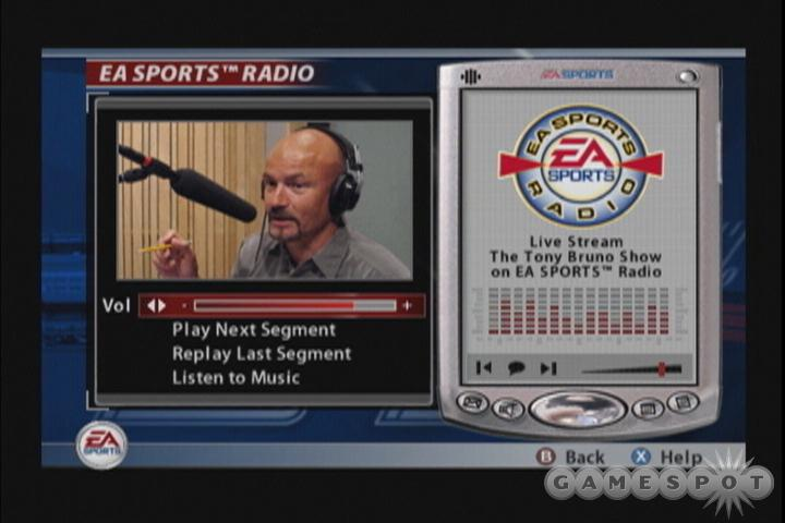 Sports radio host Tony Bruno makes an appearance in this year's franchise mode.