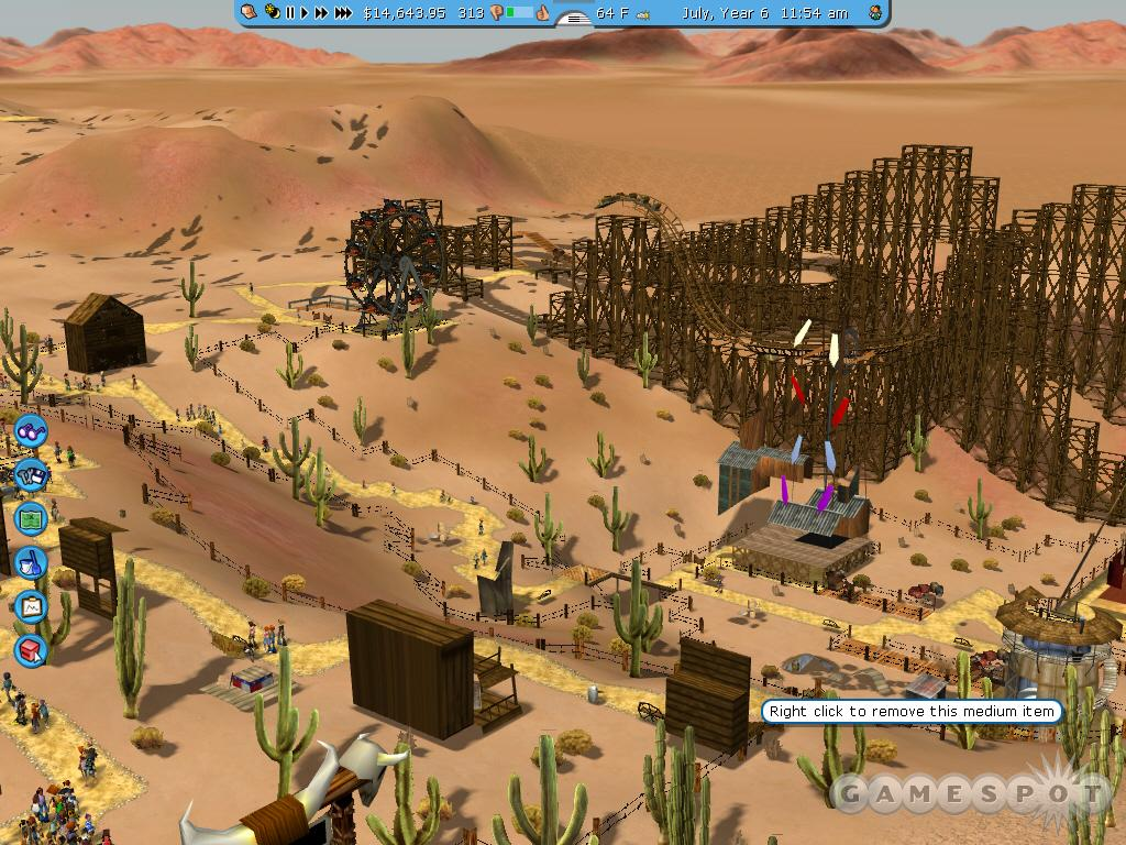 See screenshots of RollerCoaster Tycoon 3