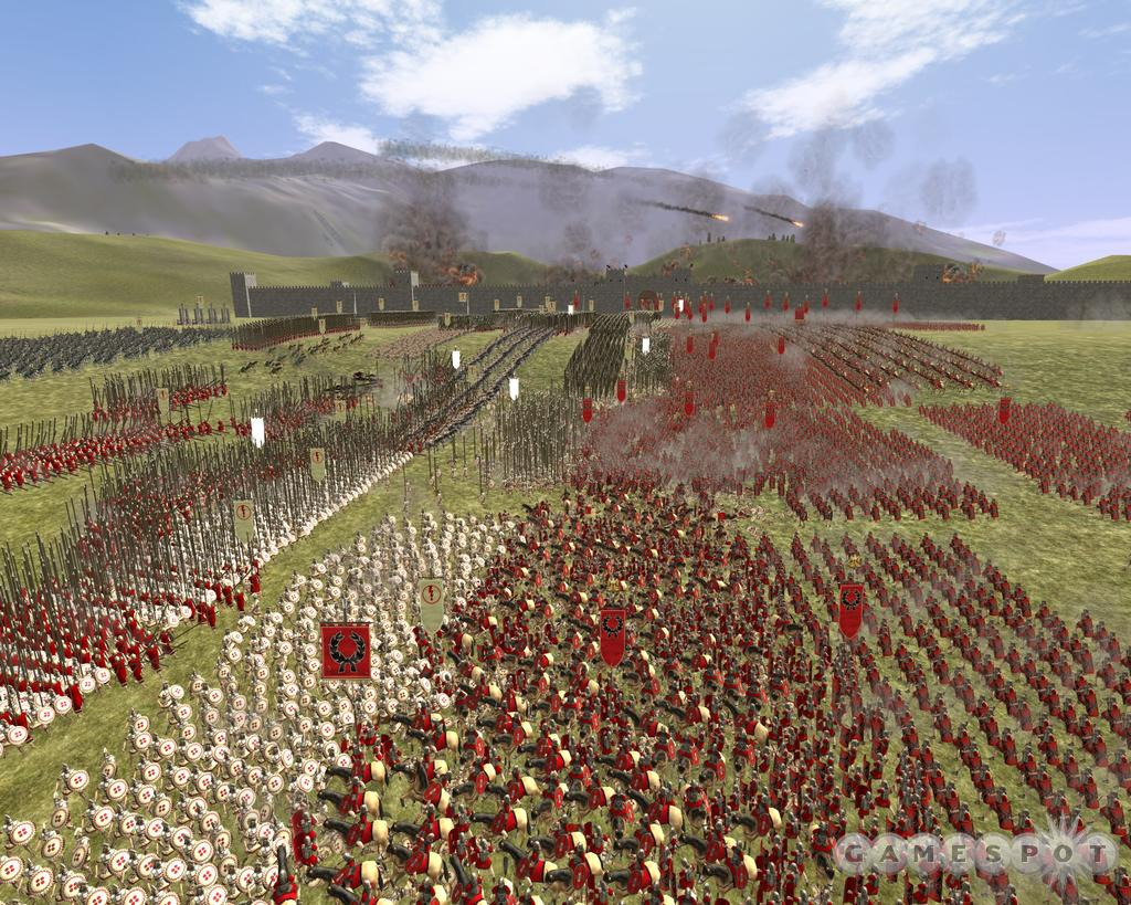 Ah, burning cities, clashing armies, just another day in Rome: Total War.