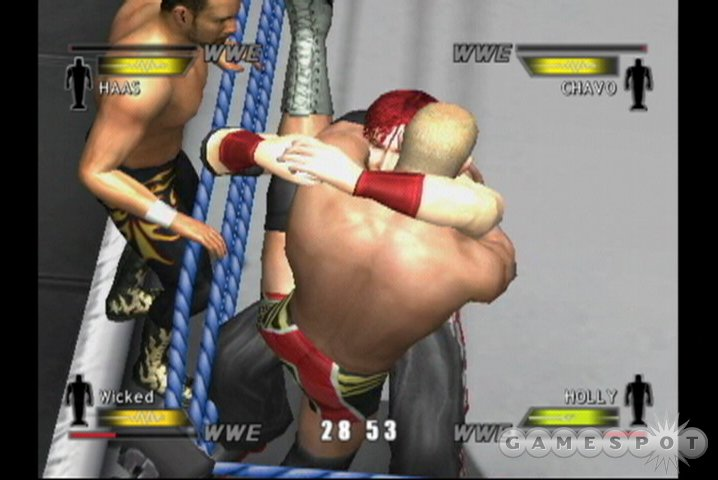 For all you angry GameCube owners who pine for the days of the N64 wrestling games, WWE Day of Reckoning may alleviate some of your suffering.
