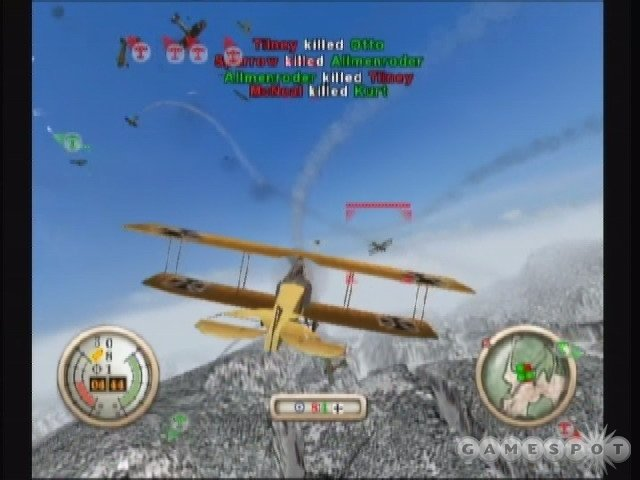 Wings of War features massive dogfights with as many as twenty planes in the air at once.