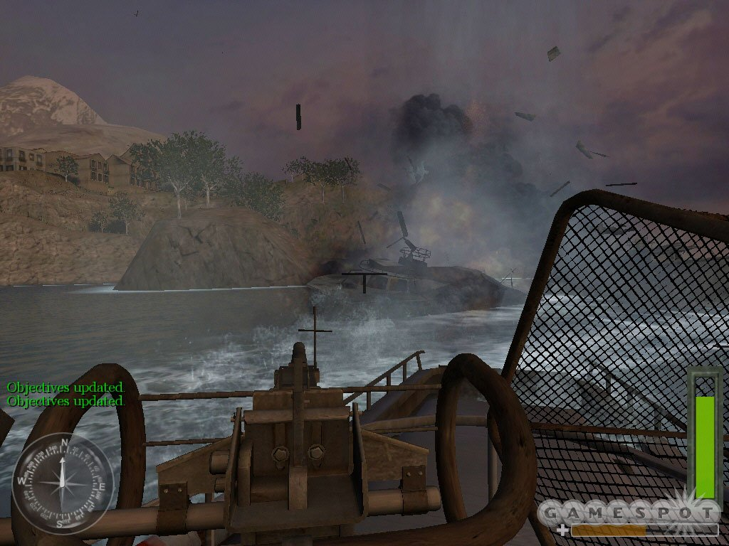 United Offensive also features a sea-based mission, which is a first for the series. Check out the pretty water.