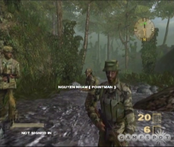 For some reason, the single-player HUD includes your connection status to Xbox Live, a fact that has nothing to do with the single-player game.