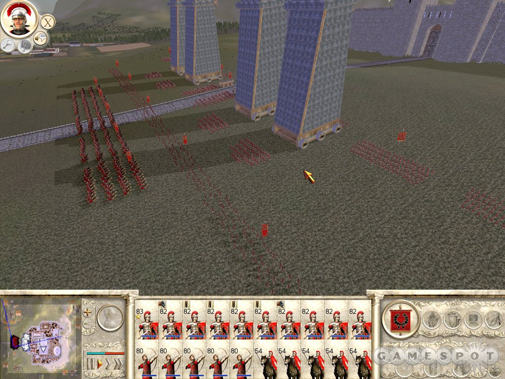 The Romans are at the gates, and they've brought gigantic siege towers to scale the towering walls of this city.