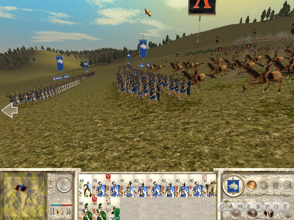 Infantrymen brace for a cavalry charge. You'll want to use appropriate tactics in each situation.