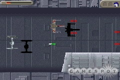 The trench run on the Death Star works like a normal space-based shoot-'em-up.