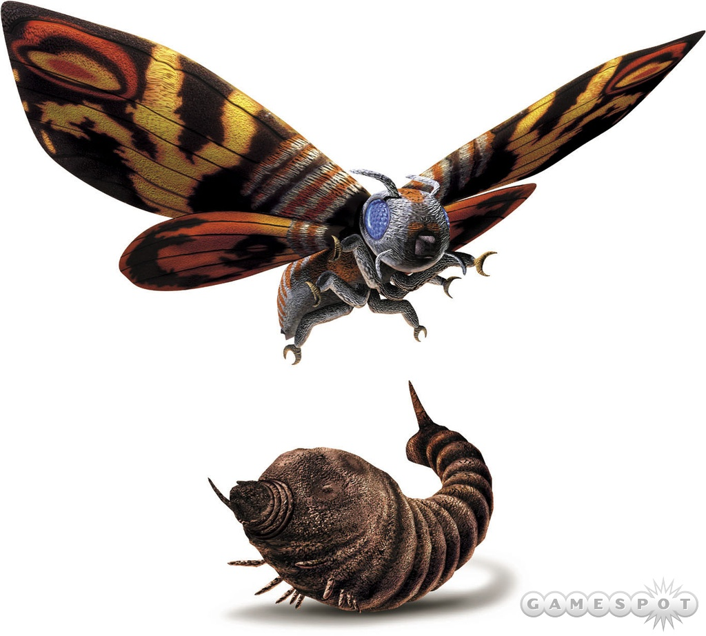 Mothra will be able to take on two different forms in battle.