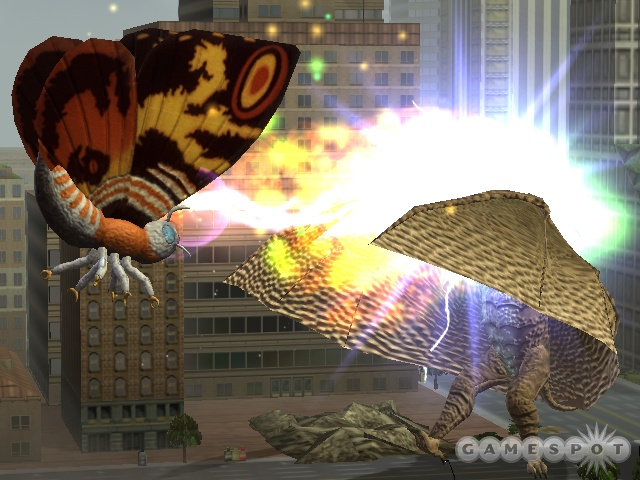 In adult form, Mothra can do more than just fly.