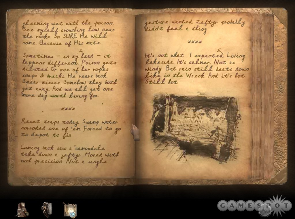 Myst fans should appreciate learning more about the series' key characters by sifting through their journals.