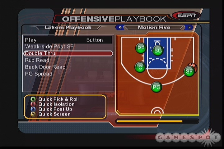 Running set plays is fun and effective in ESPN NBA 2K5.