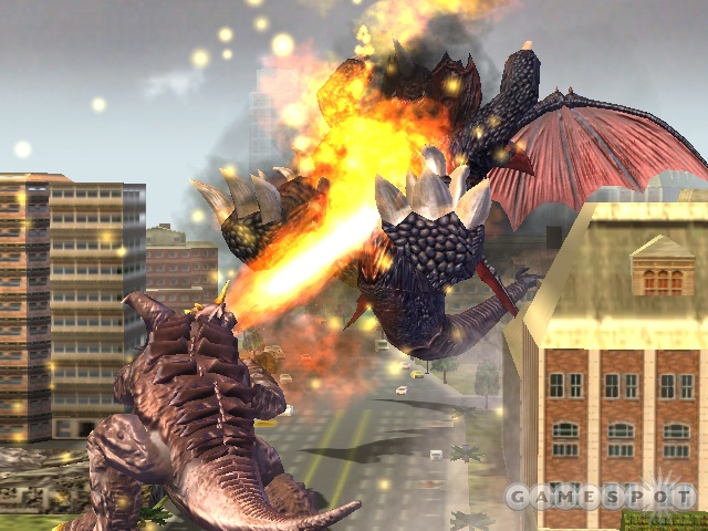 Baragon can move while attacking with his flame breath.