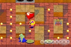 Ms. Pac-Man's world has an isometric 3D look.