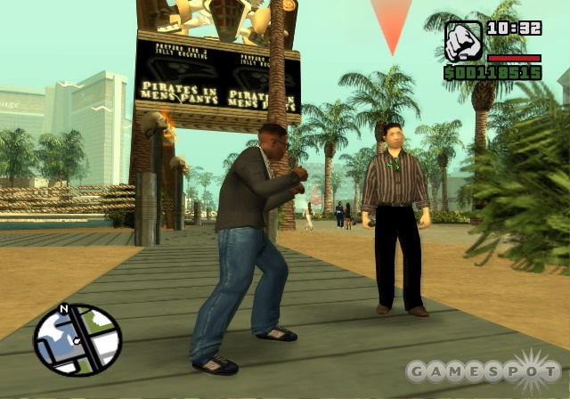 While the game's frame rate isn't stable, San Andreas still looks great.