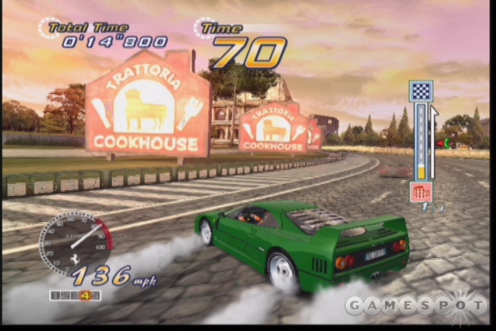 OutRun 2 includes a variety of great-looking tracks to race on.
