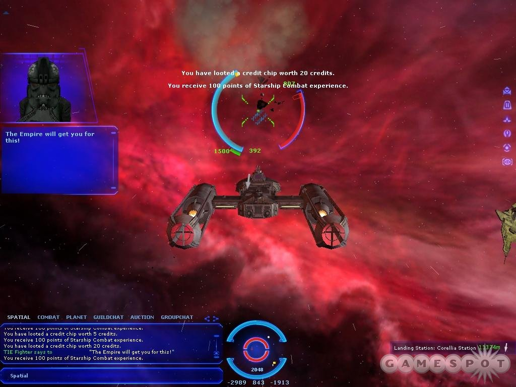 The act of blasting away at foes in outer space is reminiscent of classic space combat sims, but it becomes numbingly repetitious.