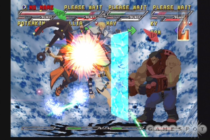 Multicharacter battles in Guilty Gear Isuka may look exciting, but they're no more fun or more interesting than the one-on-one battles of previous Guilty Gear games.
