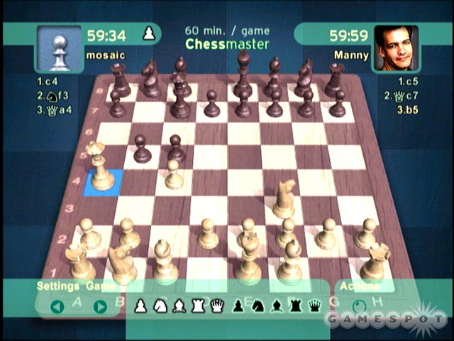 The game's 100 different opponents and various advice features make Chessmaster perfect for all skill levels.