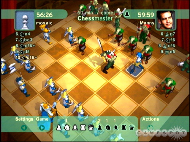 Pick from more than 30 chessboards--2D or 3D--some of which have animated pieces.