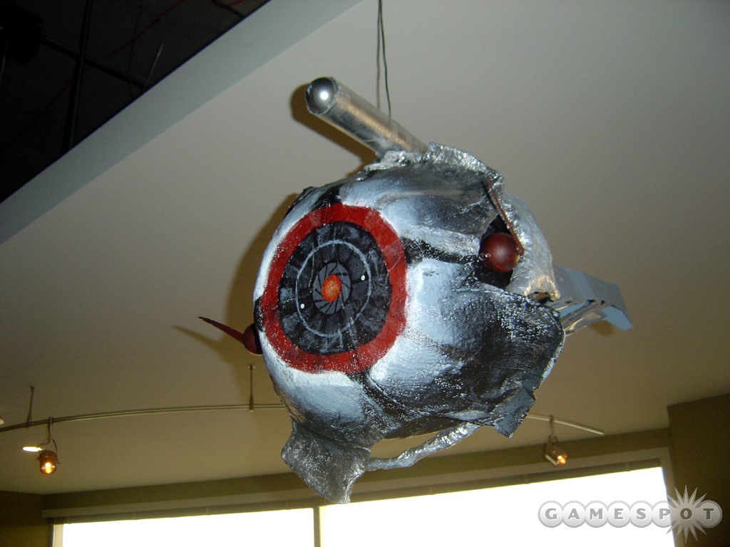 The scanner piñata hangs in the lobby of Valve Software's office building.