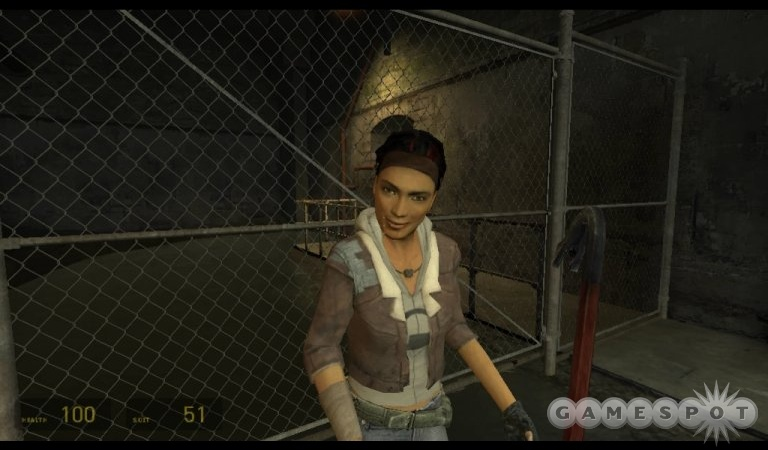 Alyx Vance, one of the in-game characters created for Half-Life 2.