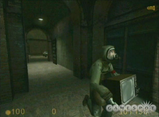 "EXCLUSIVE: A never-before seen image from ""Get Your Free TVs!"" the first test level for Half-Life 2 created in 2001."