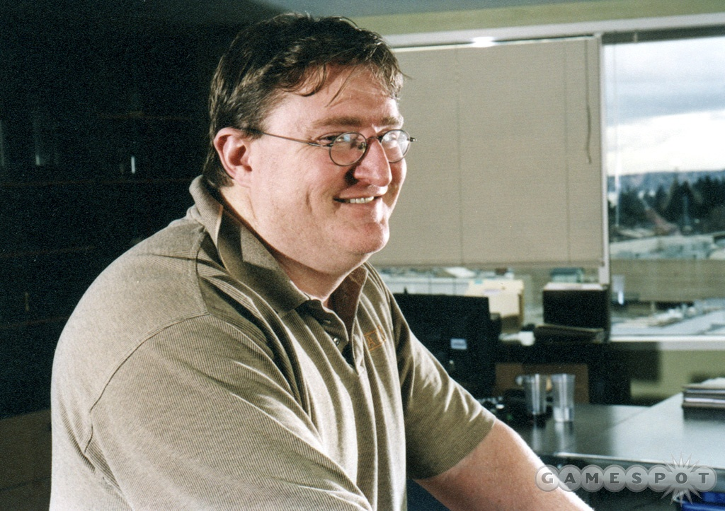 In 2002, Gabe Newell let the rest of the team take the lead on Half-Life 2's development.