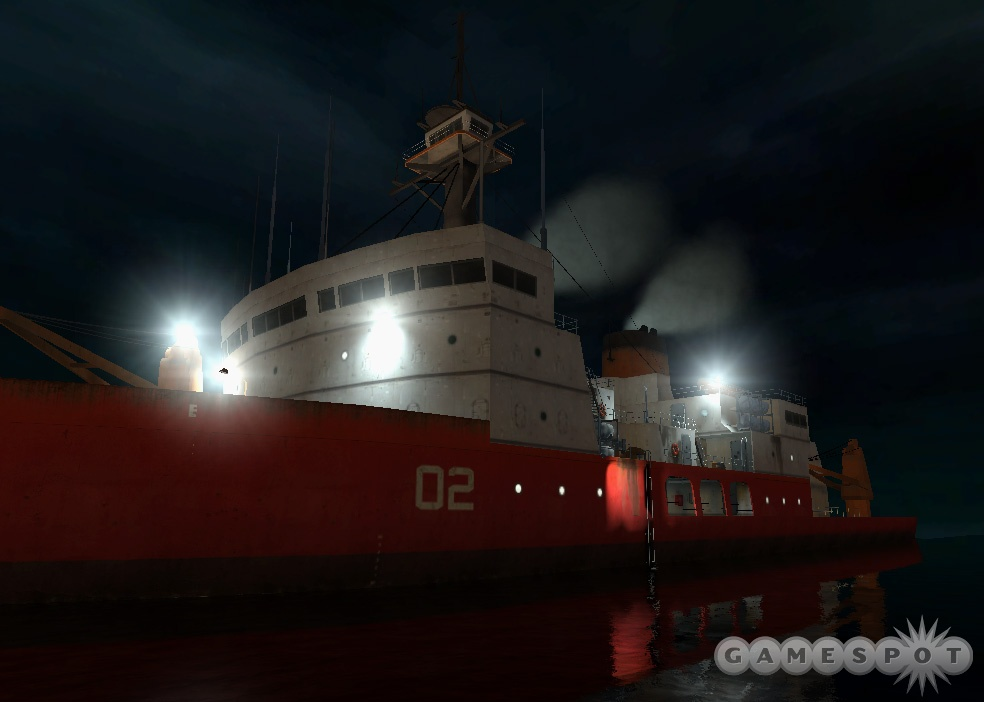 The first concept reel for the game featured the icebreaker Borealis.