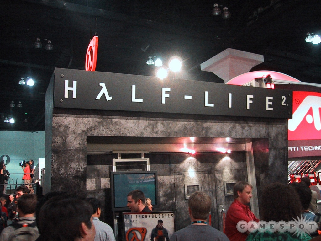 The outside of the Half-Life 2 theater at E3 2003.