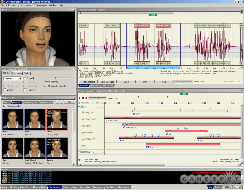 FacePoser, the tool used to create the animated sequences, still wasn't working well in the summer of 2003.