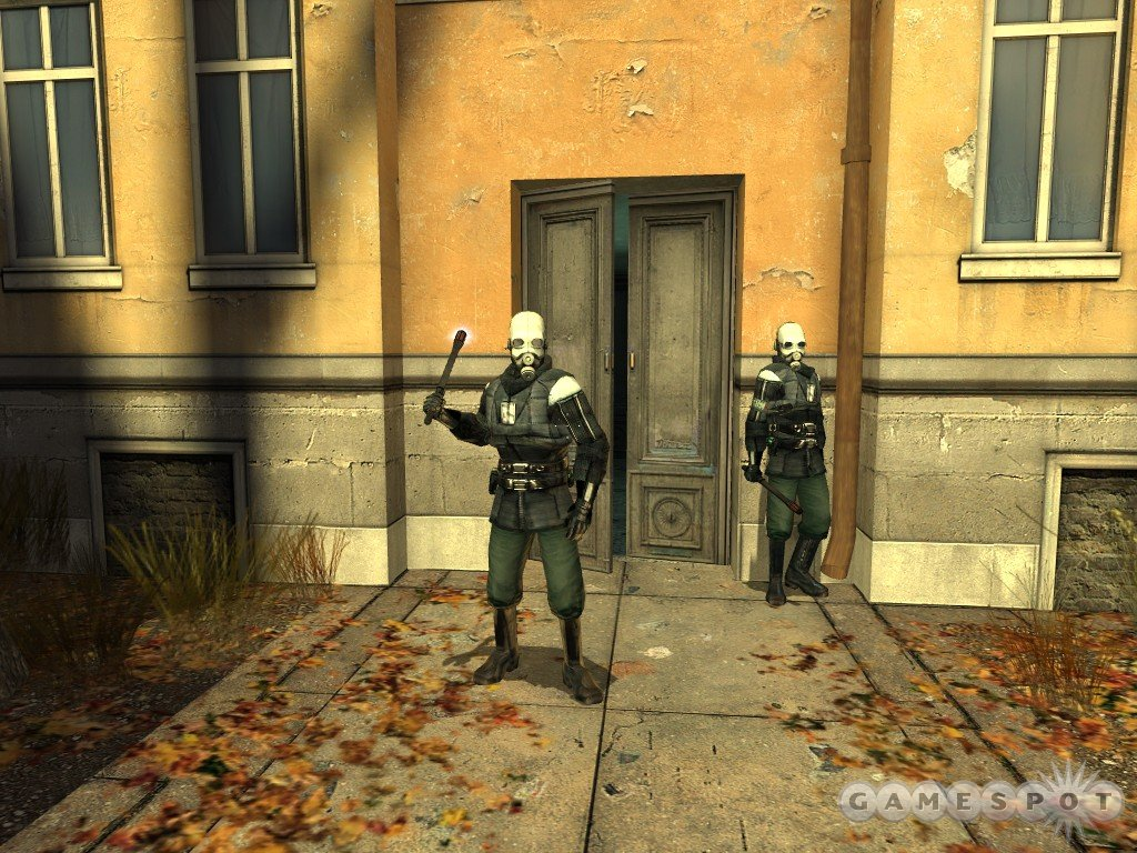 The CP troopers in the earliest portions of the game aren't very tough, since they're only lightly armored.