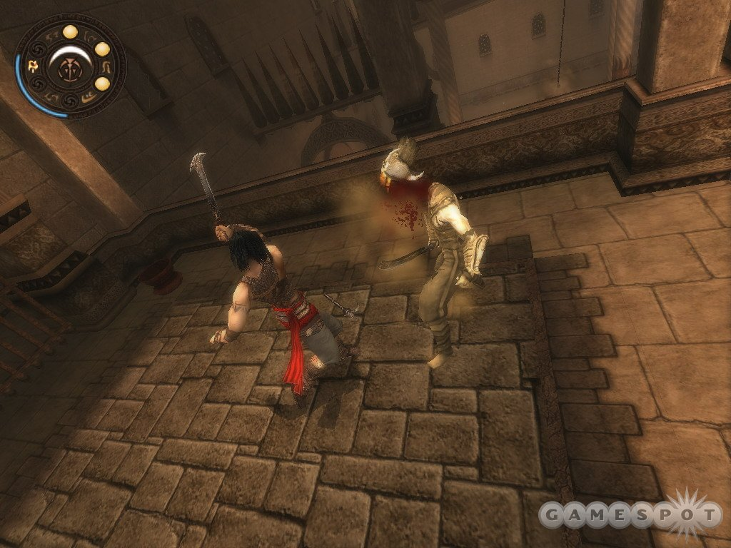 Combat is noticeably gory in Warrior Within.