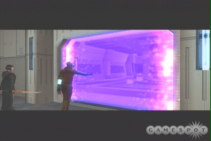 If you come up across an energy field, you can use Bao-Dur to blast through it.